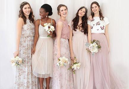 5b1f05c4ec55 Svadobné šaty Jesenná kolekcia BHLDN pre družičky