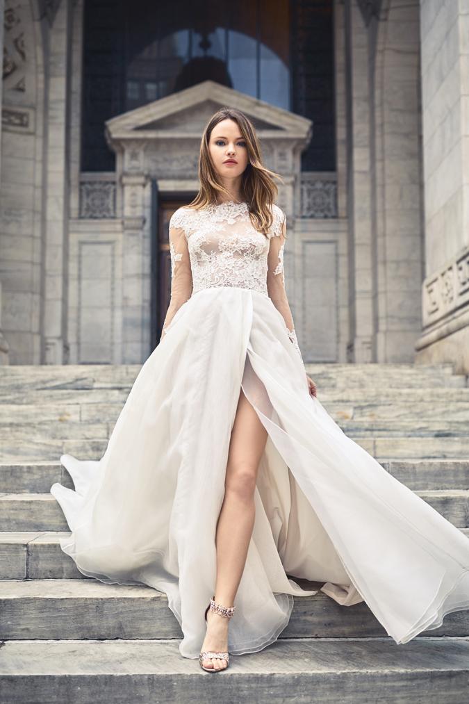 Blog Svadobné šaty Monique Lhuillier 2018  Mestská diva ožíva ... e627b222f79