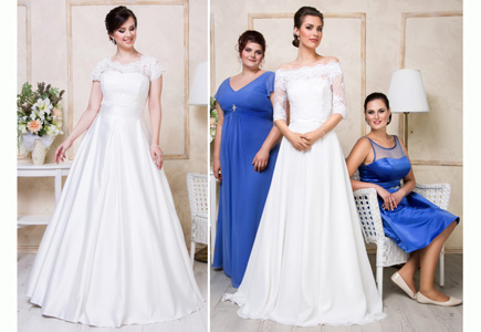 abc3fa2b4d14 Svadobné šaty Krása ženských kriviek vynikne v šatách zo salóna ...