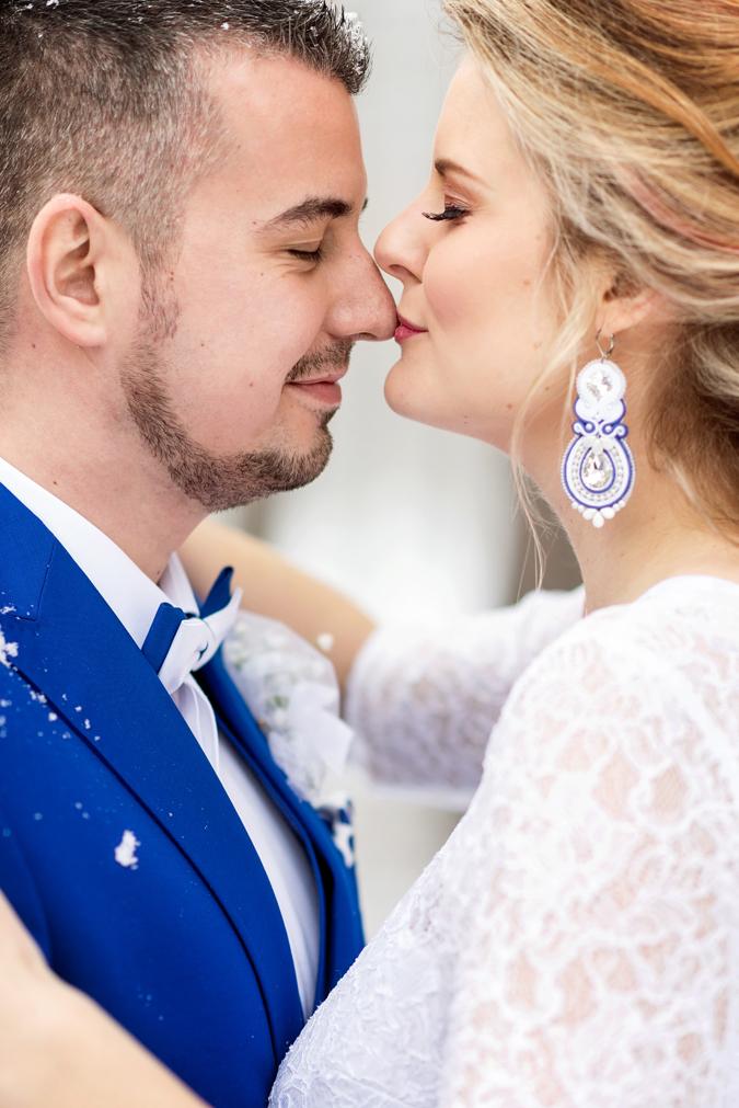 c16d3868d303 Články Natália   Marián  Zimná svadba s témou modrotlače